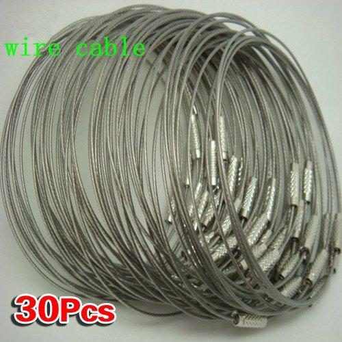29 opinioni per SODIAL (R) 30pcs in acciaio inox Vite di bloccaggio del filo portachiavi