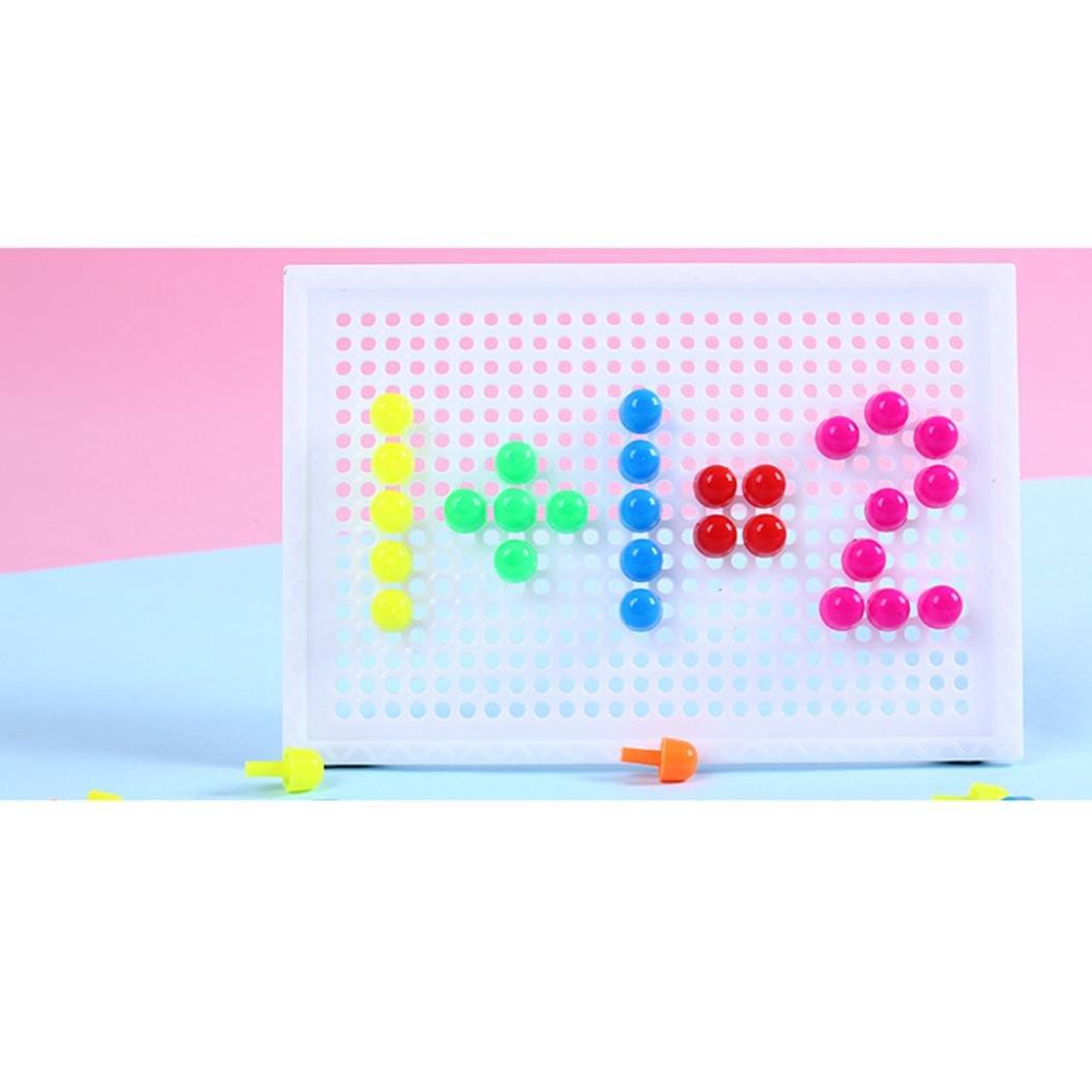 Mamum * 96 mycose des ongles, planche peg puzzle 96 montessori de mycose des ongles jouets éducatifs pour les cadeaux enfants casse-tête One Size Multicolore