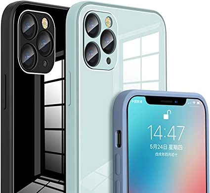 Amazon Com Abs Holdings Square Tempered Glass Phone Case For Iphone 11 12 Pro Max Explosion Proof Baby Skin Frame Iphone Xs Max X Xr 7 8 Plus Cover Sports Outdoors