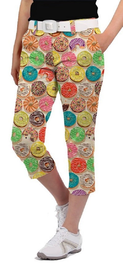 Loudmouth Golf Womens Capris - Doughnuts - Size 10 by Loudmouth Golf (Image #1)