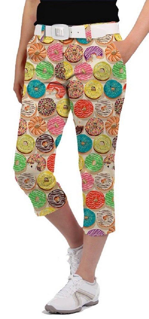 Loudmouth Golf Womens Capris - Doughnuts - Size 10