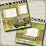 WHAT A ZOO Premade Scrapbook Pages - EZ Layout 983