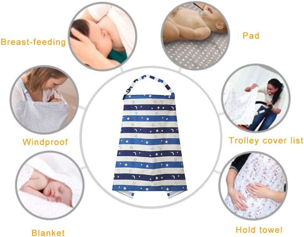 Sternenhimmel-Streifen Hilai Multifunktionale Nursing Abdeckung Privatsph/äre Stilltuch Anti-Exposure-Kleid Kleidung atmungsaktive Baumwolle Stillen Sch/ürze mit passenden Stoff-Tasche