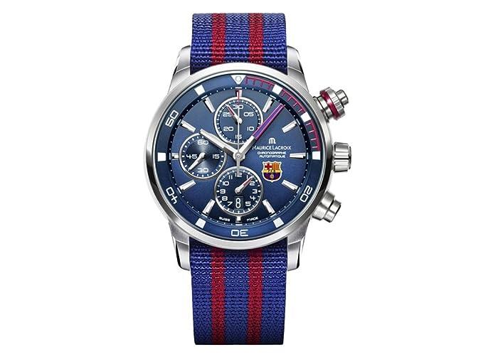 Reloj Maurice Lacroix PT6008-SS002-431-1 - Maurice Lacroix Pontos S Chronograph FC Barcelona Edition: Amazon.es: Relojes