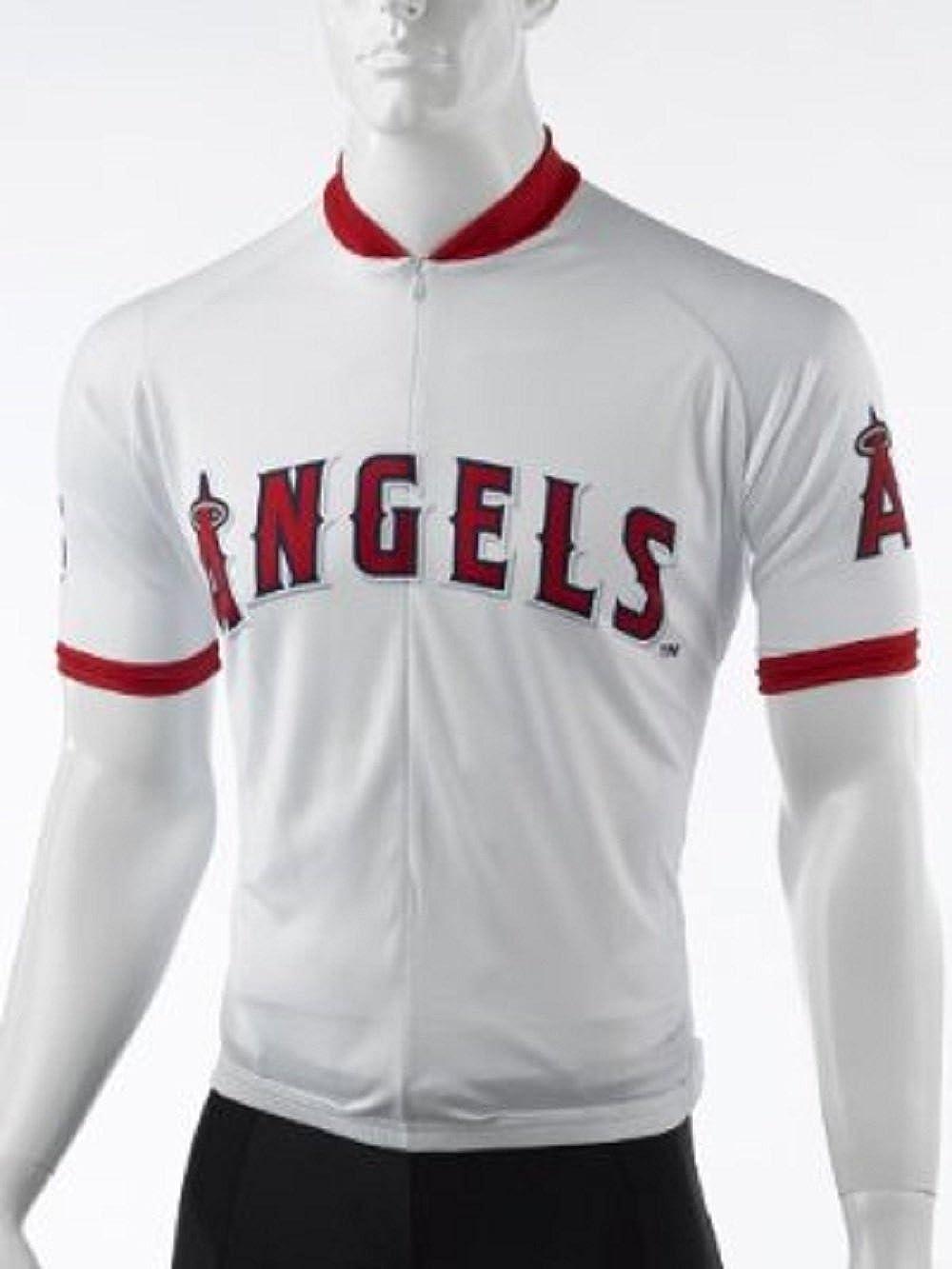 VOMAX MLB Los Angeles Angelsメンズサイクリングジャージー、ホワイト、XS   B01FSW0W3E