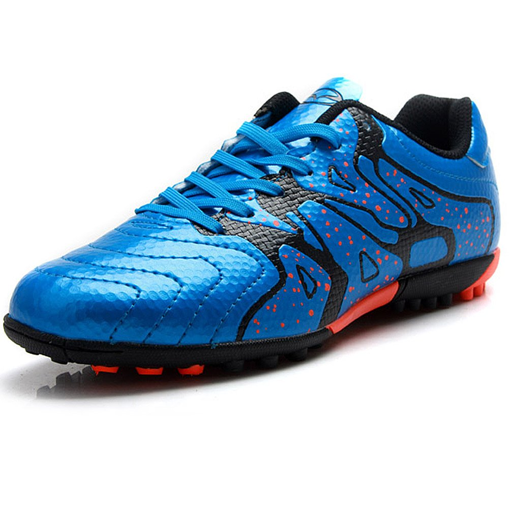 Tiebao Boys' Hard Ground Indoor Speed Pu Leather Football Shoes 75523
