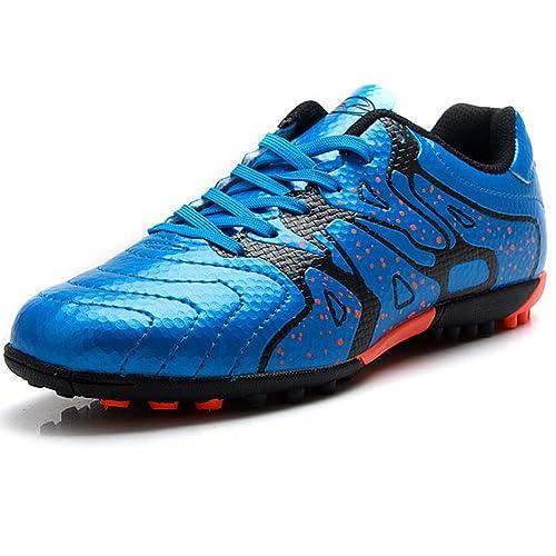 Tiebao Niño Difícil Suelo Artificial Velocidad PU Cuero Fútbol Zapatos: Amazon.es: Zapatos y complementos