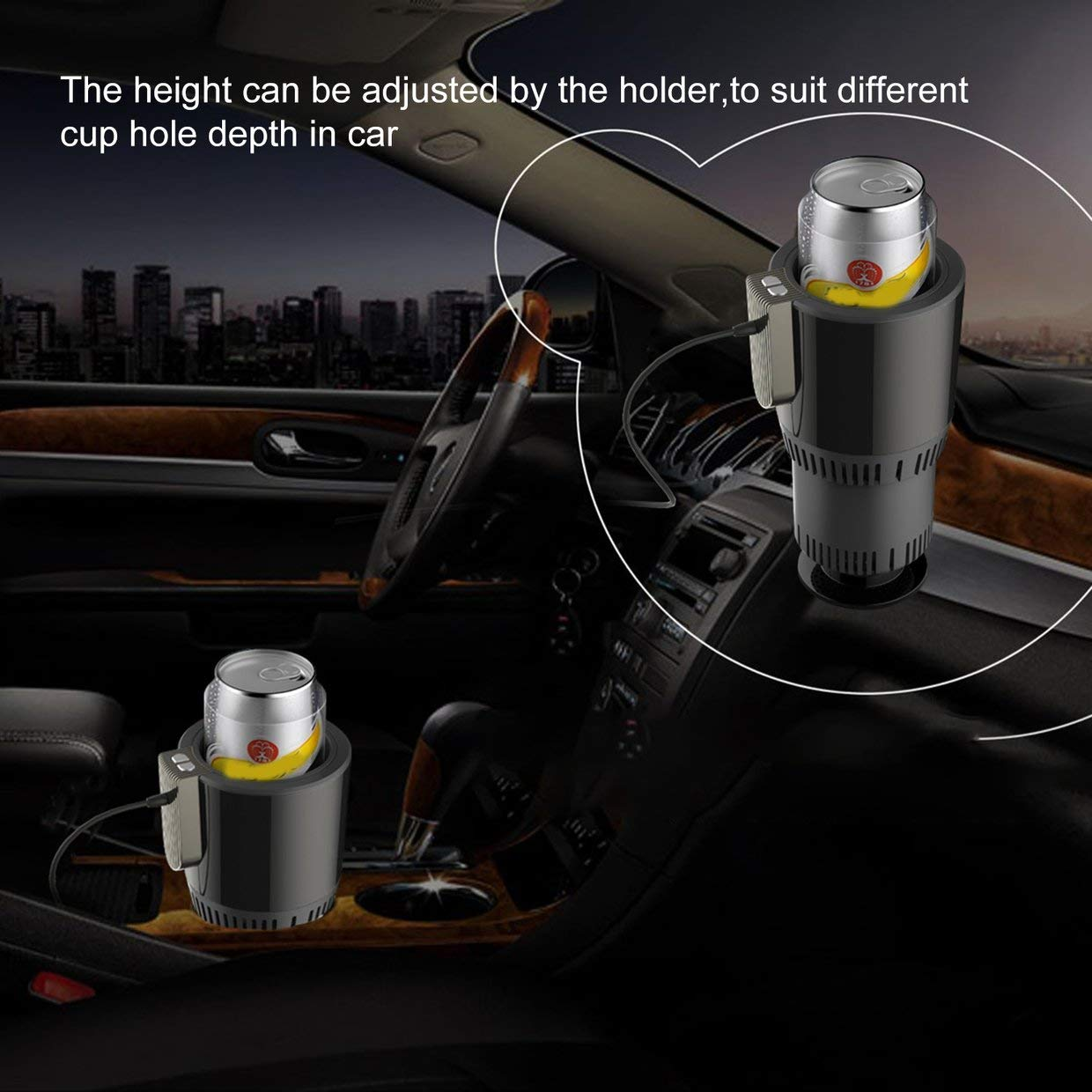 MXECO Auto Car Heating Cooling Can Cup Holder Drink Can Portable Electric Vehicle Heater 12V Mini Fridge Coffee Cooler Warmer
