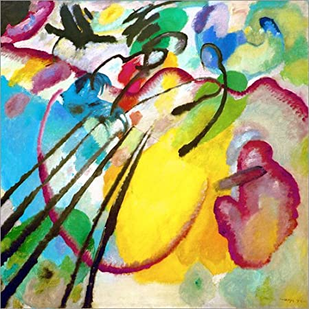Posterlounge Alu Dibond 30 x 30 cm: Improvisation 26 di Wassily Kandinsky/akg-Images