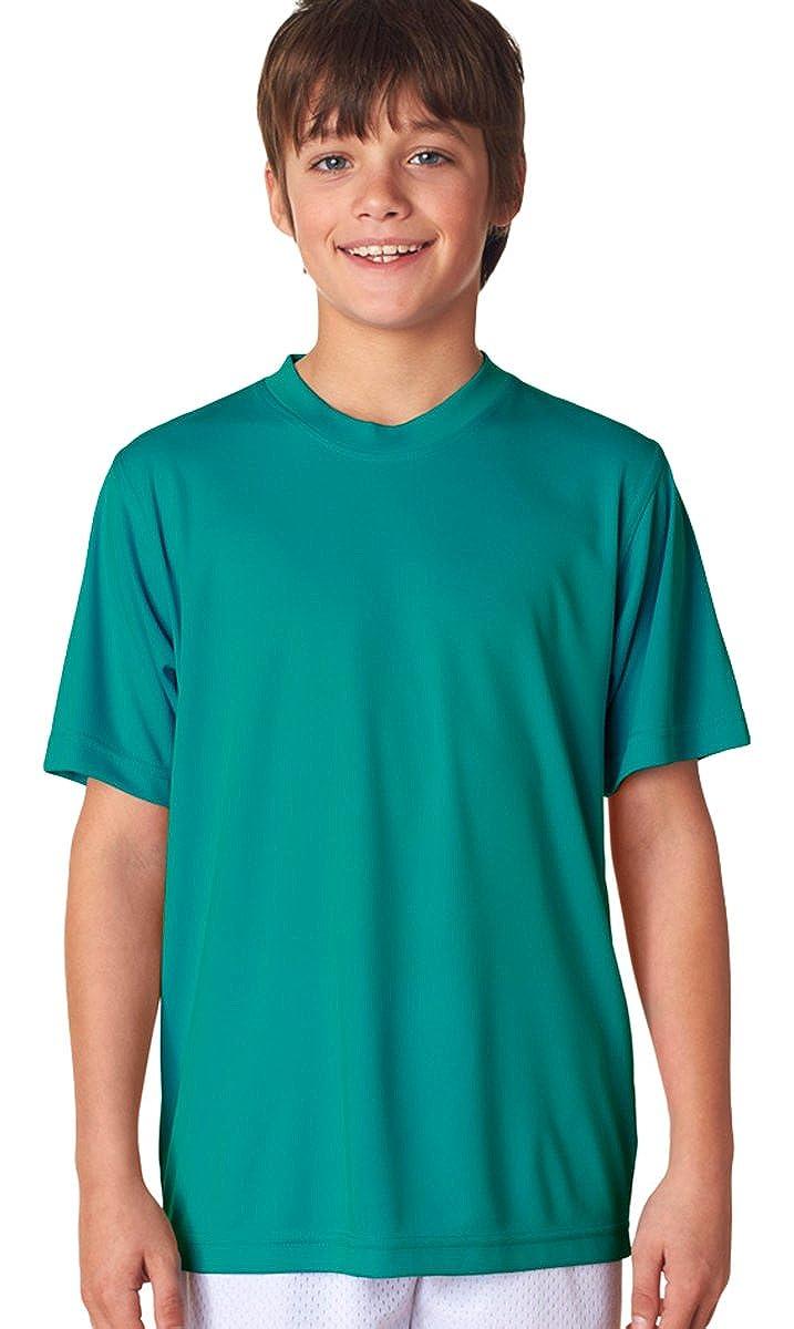 UltraClub Big Boys Athletic Fit Snag Resistant Crewneck T Shirt