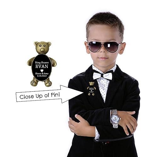 78f4e3bca62 Amazon.com  Ring Bearer Bear Gift (Ring Bearer Pin)  Handmade