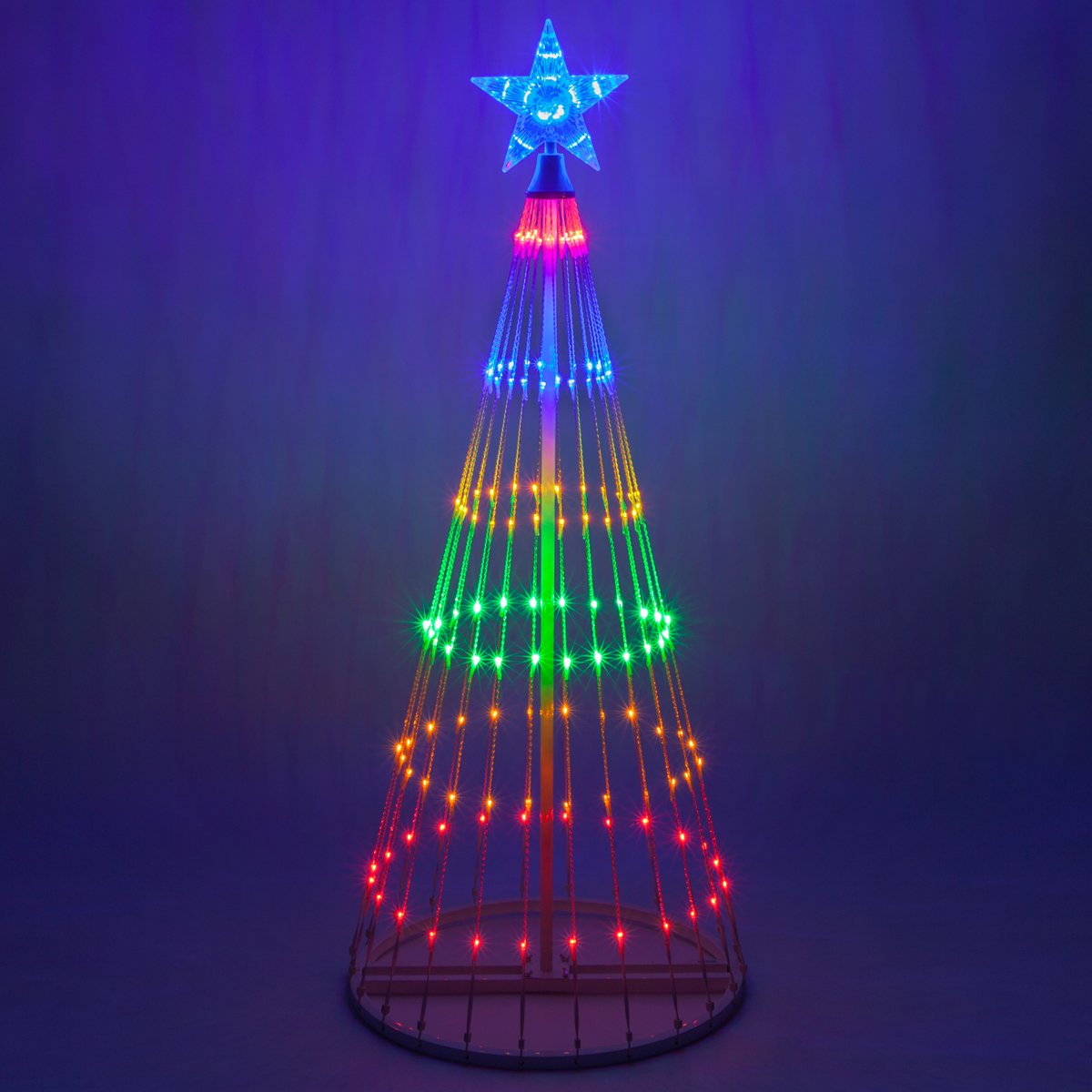 Ebay Christmas Tree: Cone Christmas Tree Lighted Multi Color Indoor Outdoor