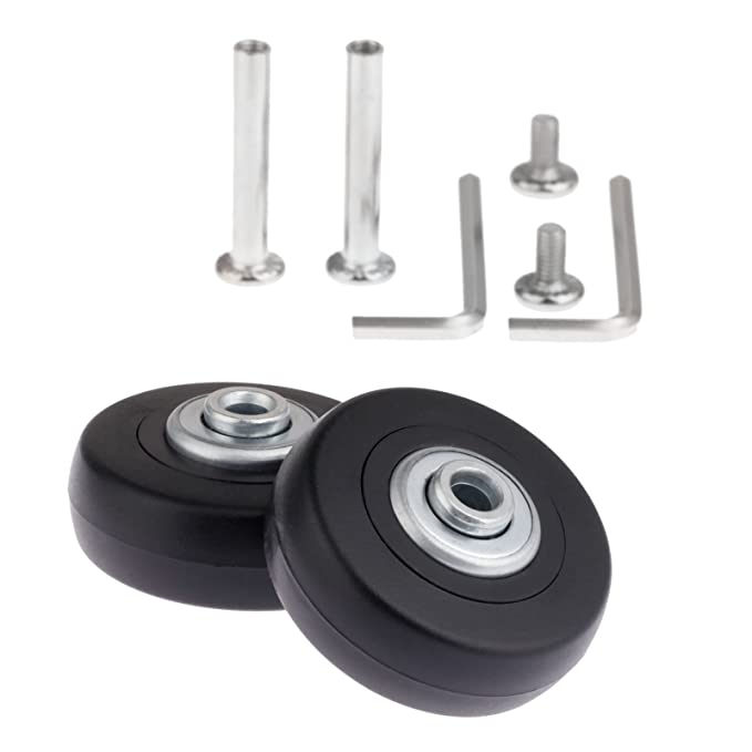 Amazon.com: Mtsooning 2Set 50x18mm Luggage Suitcase Replacement Wheels with Axles Wrench Repair Bearings: Toys & Games