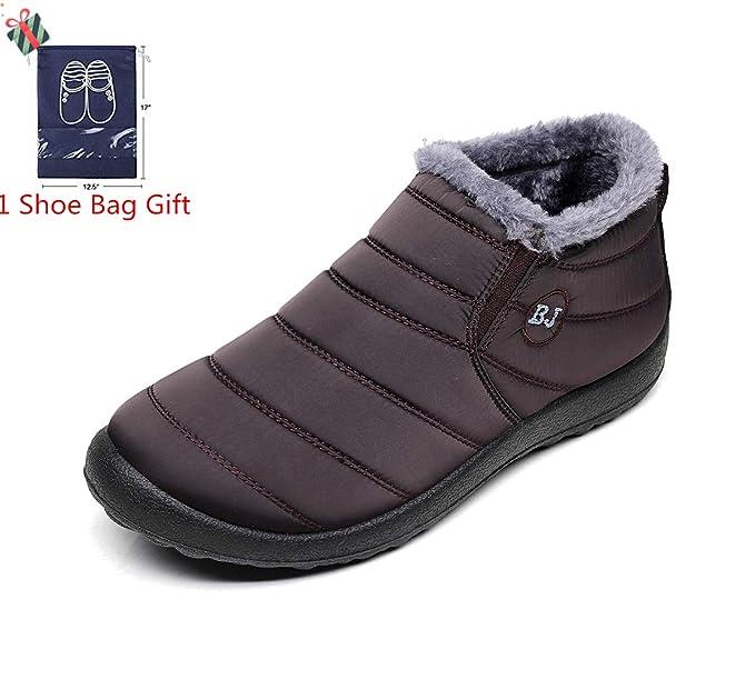 Morbuy Botas de Nieve Mujer, Invierno Unisex Plano Botines Calentar Zapatos Impermeables Deportes Trekking Zapatos Forro Piel Sneakers: Amazon.es: Ropa y ...