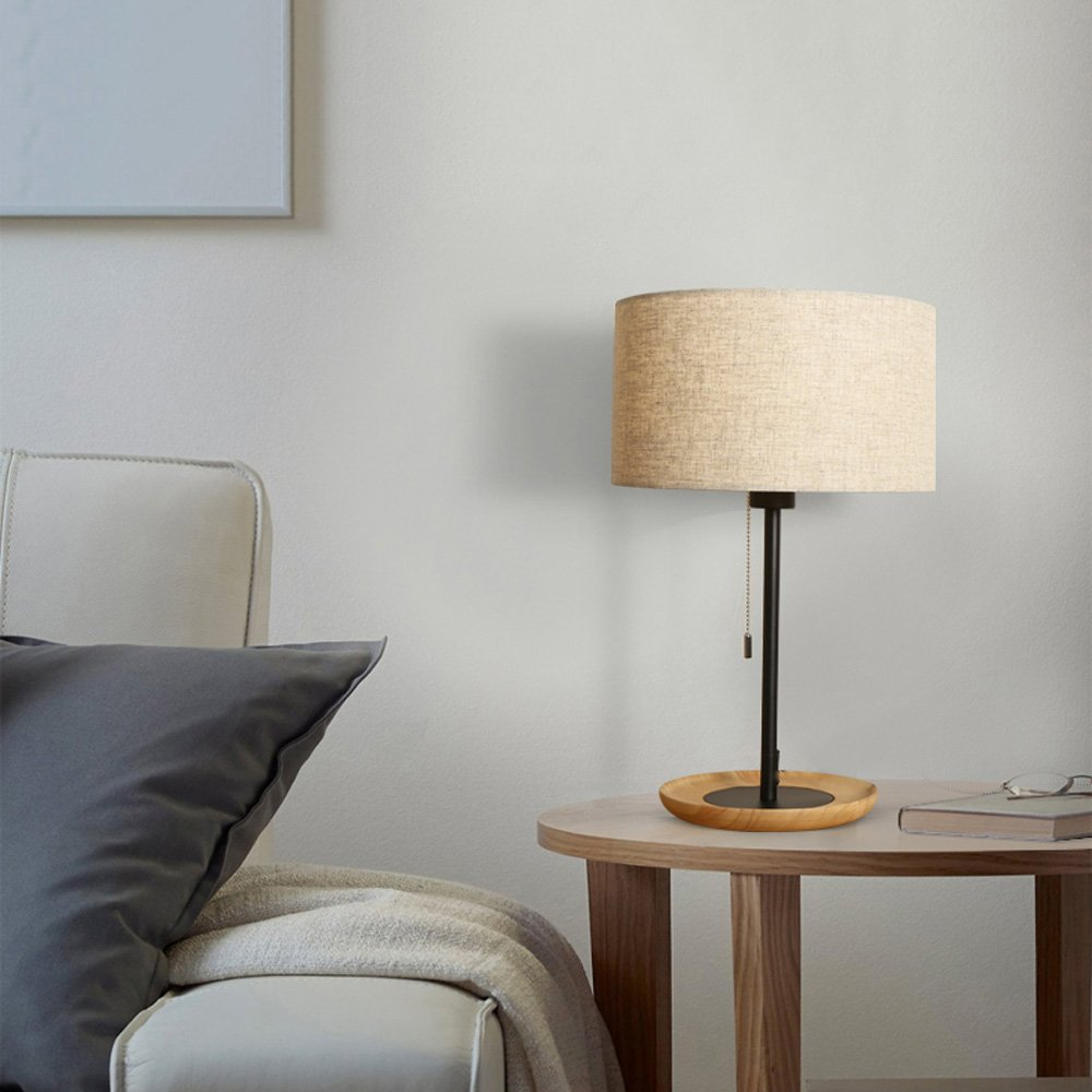 Wooden Table Lamp Nordic Simple Creative Student Children Desk Desk Lamp Bedroom LED Bedside Lamp Decorative Set Energy Saving Desk Lamp by Lizichun (Image #2)