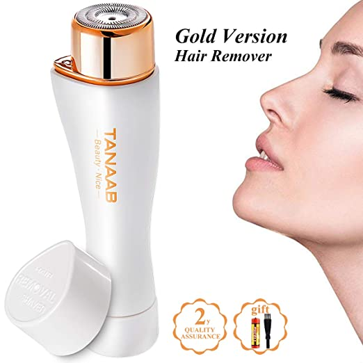 TANAAB Facial Hair Removal for Women Painless Professional Waterproof Smooth Facial Hair Remover for Face Lips Chin Cheeks Arm Built-in LED Light