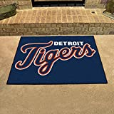 "Fanmats Home Indoor Sports Team Logo Mat Detroit Tigers All-Star Rugs 34""x45"""