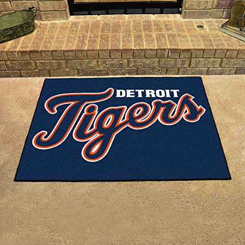 - Fanmats Home Indoor Sports Team Logo Mat Detroit Tigers All-Star Rugs 34