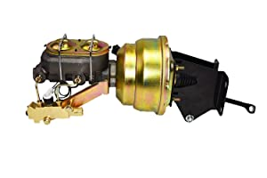 """A-Team Performance Master Cylinder Dual Power Brake Booster 8""""Proportioning Valve Disc/Drum Application PValve Compatible With 1974-1986 Jeep CJ"""