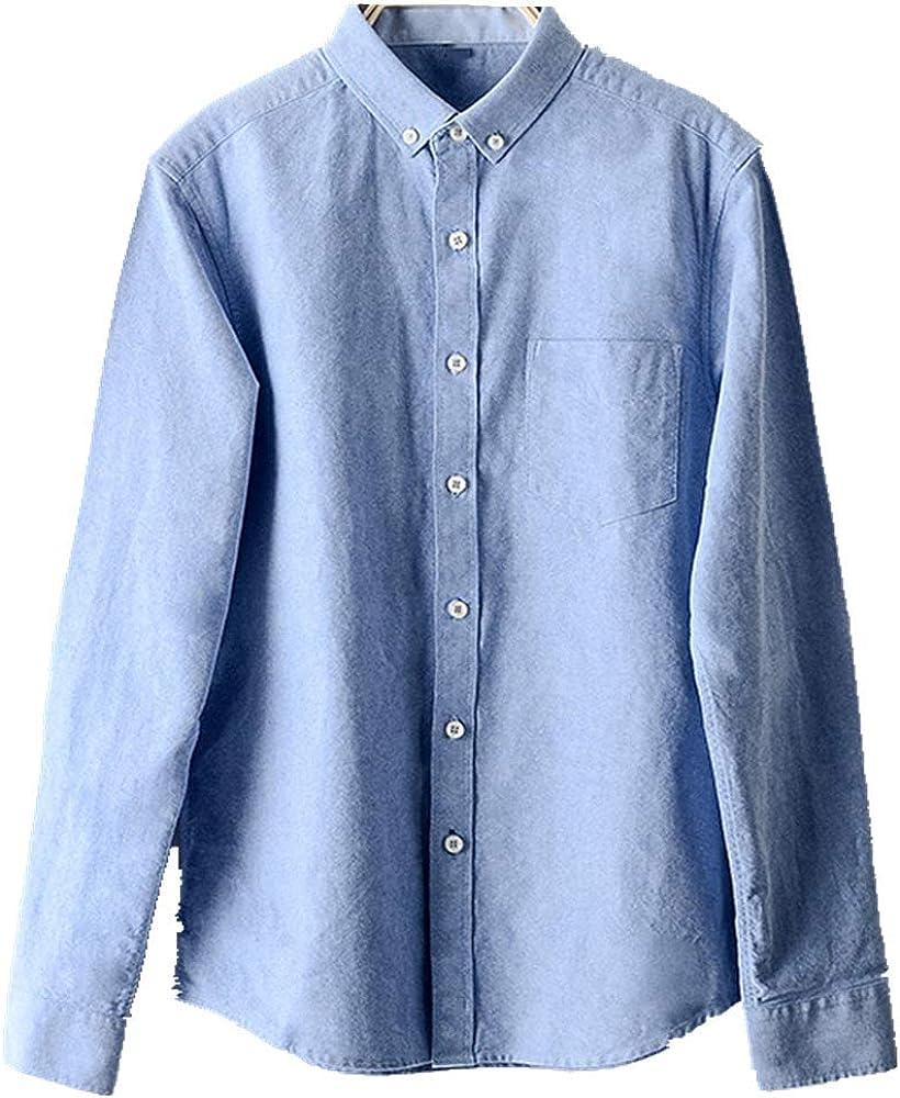 NOBRAND algodón Oxford camisa de los hombres lavado camisa retro camisa hombres