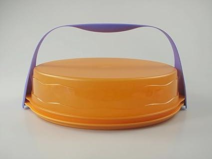 arancione Tupperware Torty contenitore per torta rotondo con onde colore