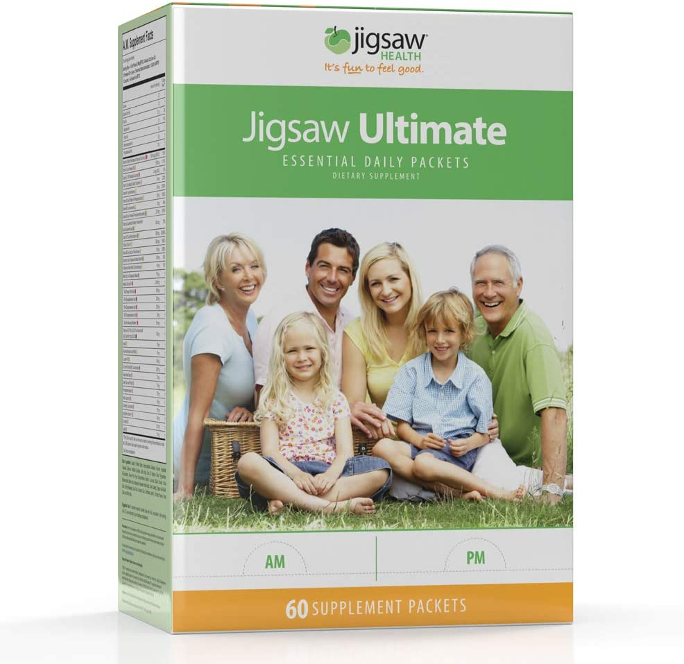 Jigsaw Health – Ultimate – Essential Multivitamin Supplement Daily Packets, 30 Day Supply