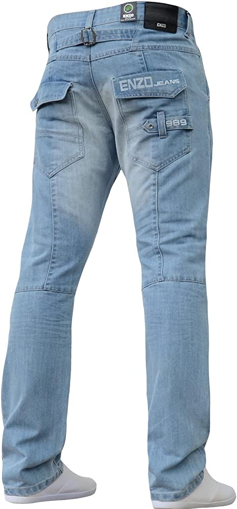 BNWT NEW MENS JEANS BLUE PANTS BRANDED CASUAL DENIM DESIGNER TROUSERS STRAIGHT