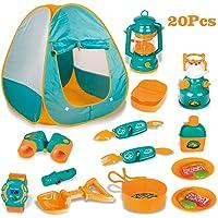 LBLA Barn camping tält set vildmark äventyr rollspel tält med matlagning set verktyg utomhus överlevnadskit leksak för…