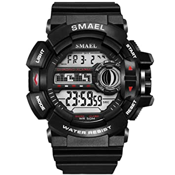 SMAEL LED Digital Wrsitwatches Relojes Militares Relojes Deportivos para Hombres Relojes Resistentes A Los Hombres S Reloj Impermeable,A: Amazon.es: ...