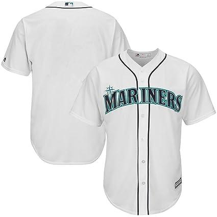 3d74f12da VF Seattle Mariners MLB Mens Majestic Alternate Cool Base Replica White Jersey  Big   Tall Sizes
