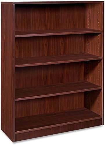 Lorell 4-Shelf Bookcase, 36 by 12-1 2 by 48-Inch, Mahogany