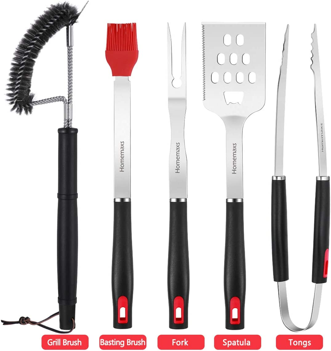 HOMENOTE Griddle Accessories, 11-Pieces Premium Flat Top Grill Tools Set with Spatulas Holder Stand- Great for Outdoor BBQ, Hibachi and Camping