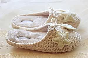 Historieta resbalón resistente zapatillas hechas a mano para hacer ...