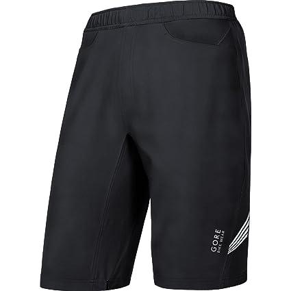Amazon.com   Gore Bike Wear Men s 2 in 1 Knee-Length Cycling Shorts ... 9ae870755