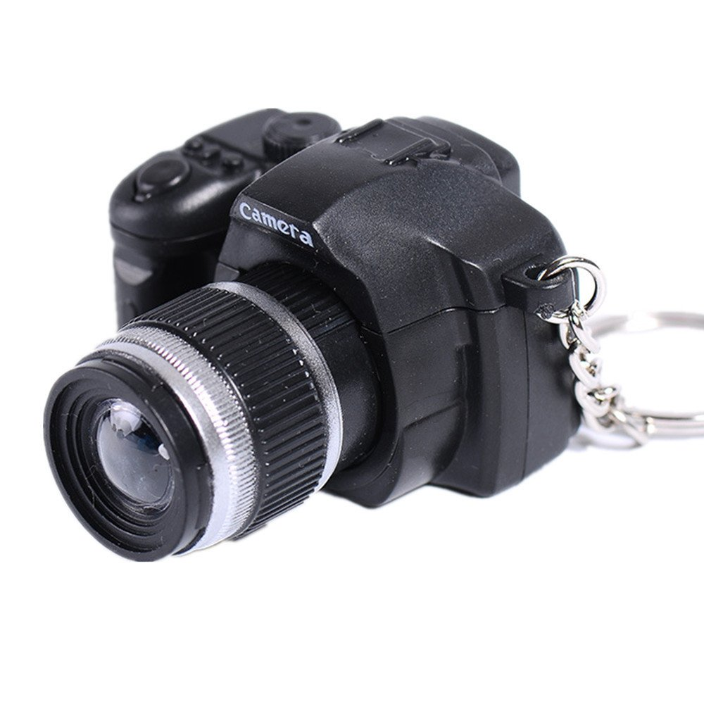 Llave cadena colgante, lavany LED Lovely Mini cámara llavero ...