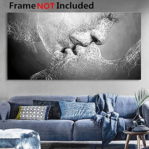 Cuadro de pared Essort, impresión en lienzo, impresión en blanco y negro, para salón, dormitorio, restaurante, decoración de hotel, Blanco, 100*60cm