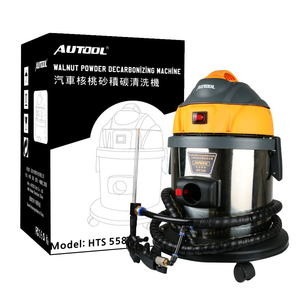 AUTOOL HTS558 Automotive Engine Intake Pipe Valve Clean Machine Valvetronic System Walnut Powder Sand Carbon Deposition Cleaner by AUTOOL (Image #9)