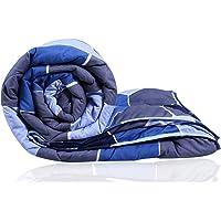 Decoforia Honey Comb Microfiber Reversible Quilt Blanket AC Comforter, Single, 120 GSM, Blue