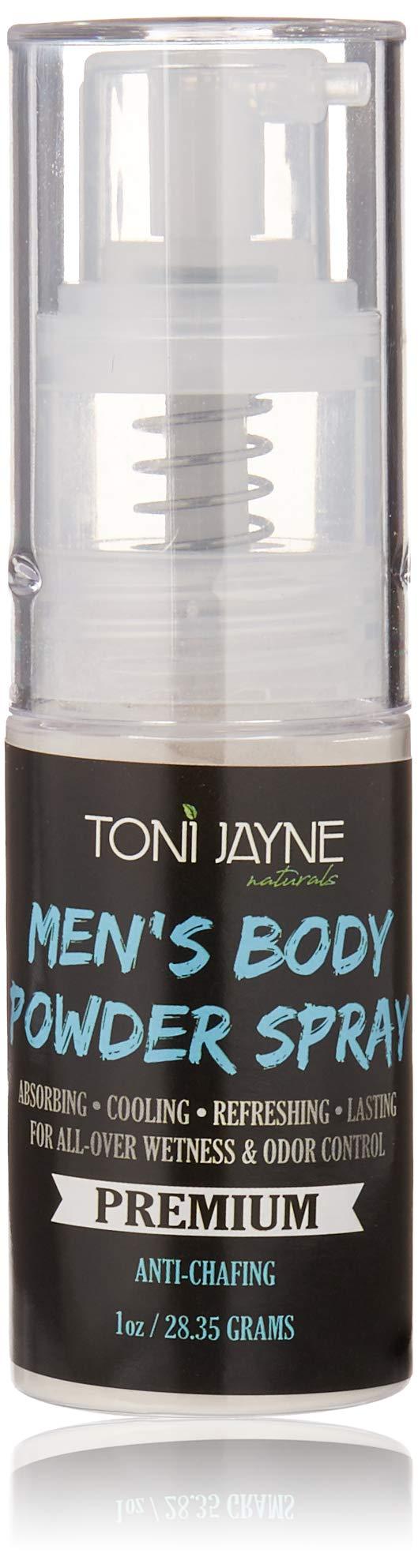 Men's Body Powder Spray by Toni Jayne Naturals: Fresh Aloe Vera Body Spray for Men| Full Body Cooling & Odor Control Spray|Natural Anti-Sweat, Anti-Chafing Body Powder Spray| Non Talc 1oz by Toni Jayne Naturals