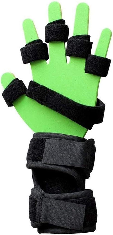 Férula de la mano Protector de craqueo para la rehabilitación de manos Ejercicio Discapacidad, hemiplegia anti-espasticidad Deterioro funcional Ortesis de los dedos 21-413 (Color : Right, Size : L)