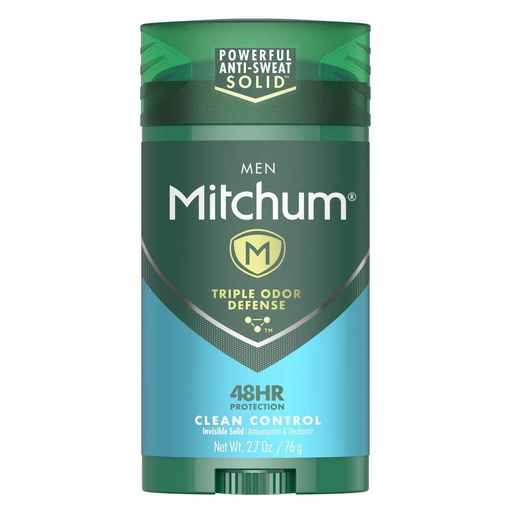 Mitchum Antiperspirant Deodorant Stick for Men, Triple Odor Defense Invisible Solid, 48 Hr Protection, Dermatologist Tested, Clean Control, 2.7 oz: Beauty