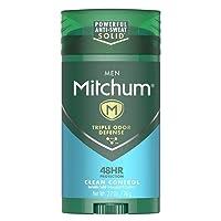 Mitchum Antiperspirant Deodorant Stick for Men, Triple Odor Defense Invisible Solid...