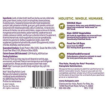 Halo Natural Wet Dog Food, Lamb Recipe