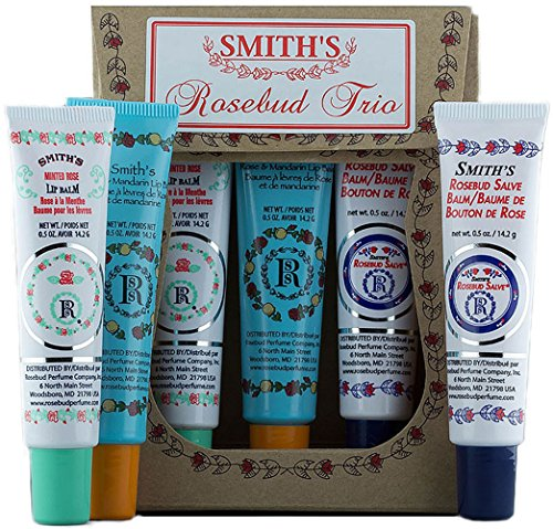 Rosebud Trio Lip Balm Assortment, 0.5 Ounce (Stain Plumping Lip)