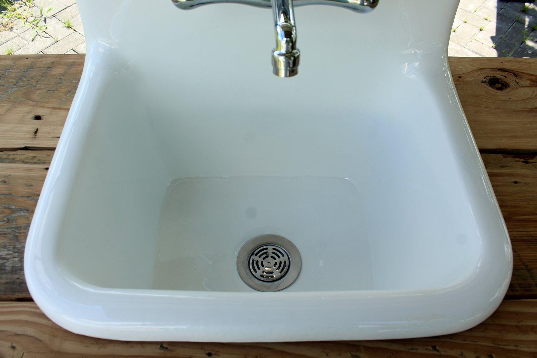 Amazon.com: Deep Basin Cast Iron Porcelain Utility Sink Craftsman X ...