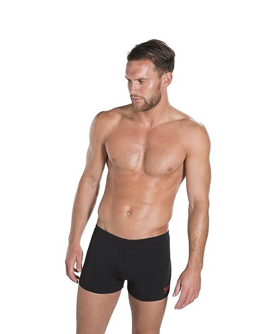 db67c56ae8 Amazon.com : Speedo Men's Swimsuit - Solid Square Leg, Endurance+ :  Athletic Swim Briefs : Clothing