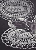 Vintage Crochet PATTERN to make - Doily Centerpiece Mat Tiara Oval Design. NOT a finished item. This is a pattern and/or instructions to make the item only.