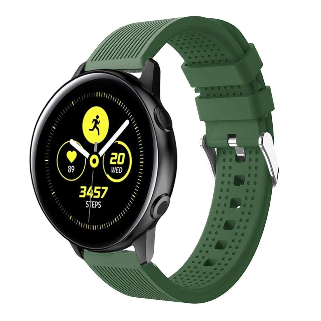 Smart Watch Silicone Wrist Strap Watchband for Garmin Vivoactive 3 Premium Quality (Color : Army Green) by GuiPing