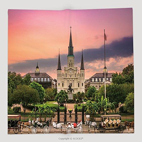 Custom Jackson Square New Orleans_564604962 Soft Fleece Throw Blanket