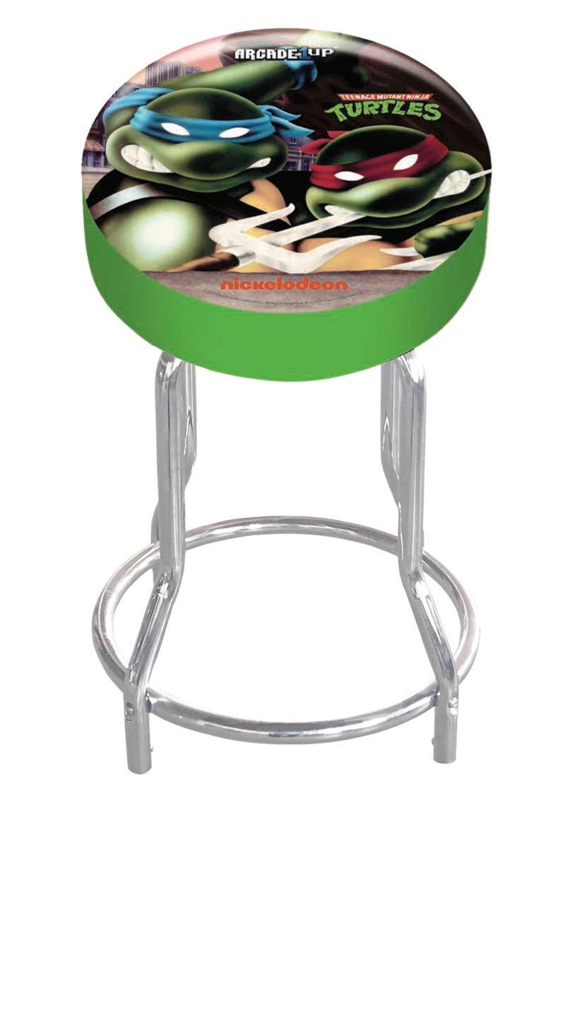 """Arcade1Up Teenage Mutant Ninja Turtles Tmnt Adjustable Stool, 21.5"""" to 29.5"""" - Electronic Games"""